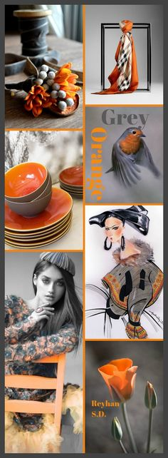 '' Grey & Orange '' by Reyhan S.D.