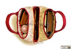 Quilted handbag sewing pattern with three by NapkittenPattern, $9.00