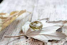 eco resin ring-REAL FLOWER RING-leaves of wormwood-nature inspired engagement rings-botanical handmade jewelry-Eco Friendly-Everyday Jewelry