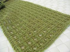 Lovely open grid pattern. Plus free pattern - Ravelry: Sheesha pattern by Sandhya S.
