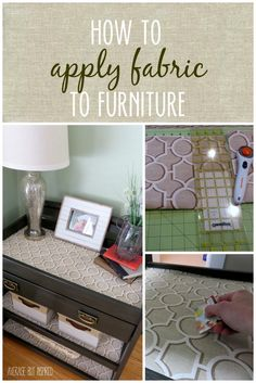 How to Apply Fabric to Furniture 2019 Learn how to add fabric to furniture in just a few simple steps! The post How to Apply Fabric to Furniture 2019 appeared first on Fabric Diy. Furniture Projects, Furniture Making, Home Projects, Bedroom Furniture, Home Furniture, Furniture Cleaning, Furniture Removal, Furniture Outlet, Furniture Stores