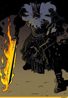 Lord of Cinder Gwyn,DS персонажи,Dark Souls,фэндомы,DS art