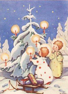 Christmas Nativity, Christmas Love, Retro Christmas, Christmas Angels, All Things Christmas, Winter Christmas, Christmas Card Images, Christmas Clipart, Vintage Christmas Cards