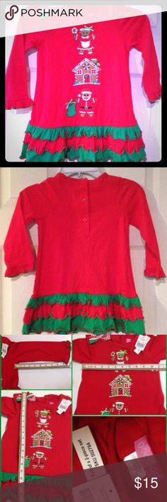 Christmas gingerbread tunic dress 3T Festive tunic top dress only. Tags say 2 piece but only top is included. See pics for measurements. Size 3T good lad. good lad Dresses Casual