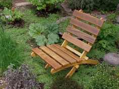 Comfy Rustic Cedar Chair for Home & Garden - (color natural cedar tone) handcrafted by Laughing Creek