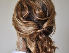 Quick easy up-do