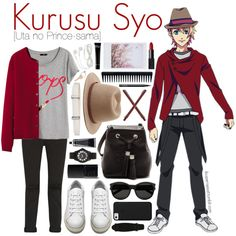 Kurusu Syo [Uta no Prince-sama] by anggieputeri on Polyvore featuring Uniqlo, H&M, J Brand, Acne Studios, Tory Burch, MARC BY MARC JACOBS, Lanvin, Yves Saint Laurent, Maison Margiela and Forever 21
