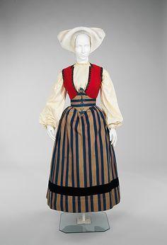 Ensemble, third quarter 19th century, Norwegian.