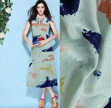 Красочные печатные haircord атласной ткани шелковый атлас шифон ткани атласной качество пряжи мода(China (Mainland))