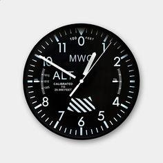 cool office clocks. mwc altimeter wall clock clocksmilitary cool office clocks