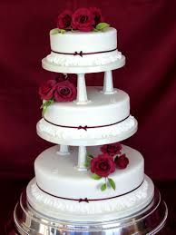 Image result for burgundy wedding cakes