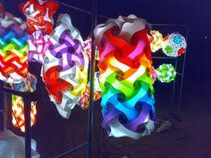 VLightDeco IQ Light Puzzle Pendant Jigsaw Lamp Styles: IQ Light Jigsaw Lamp - Vlightdeco Rainbow Cylinder and Top Spin