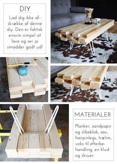 DIY sofa-plankebord på retro ben