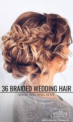 36 Braided Wedding Hair Ideas You Will Love ❤ From soft waves to gorgeous updos and ponytails, brides have so many hairstyles to consider. See our gallery of braided wedding hair ideas for inspiration! See more: http://www.weddingforward.com/braided-wedding-hair/ #weddings #hairstyles