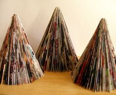Recycled catalog trees by GigglingGnome on Etsy.  $24.95