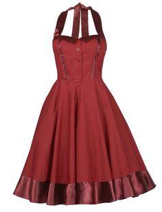 Tie Back Swing Dress - Rockabilly Clothing - Online Shop für Rockabillies und Rockabellas