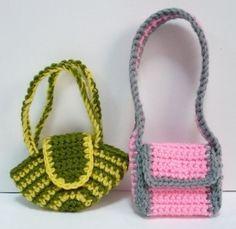 Doll Bag Crochet Pattern Bags for Blythe Crochet by melbangel, $4.50