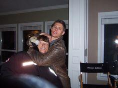 Jared Padalecki Brother, Jensen Ackles Jared Padalecki, Jared And Jensen, Super Papa, Eric Kripke, Hemlock Grove, Tv Supernatural, Winchester Brothers, Sam Winchester