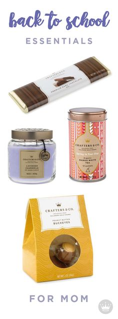 We all know that mom is the MVP when it comes to all things back to school. Sit back and relax with these Hallmark Crafters & Co  essentials; chocolate, candle, tea, and more chocolate. Click through to treat your self.