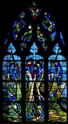 La Pêche miraculeuse | Les vitraux de l'Eglise Saint Jean à Caen (Calvados)