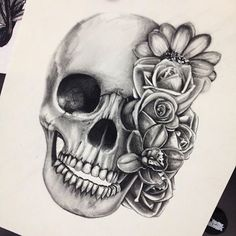 Cool Skull Tattoos For Women – My hair and beauty Piercing Tattoo, Piercings, I Tattoo, Tattoo Thigh, Small Skull Tattoo, Saved Tattoo, Future Tattoos, New Tattoos, Body Art Tattoos