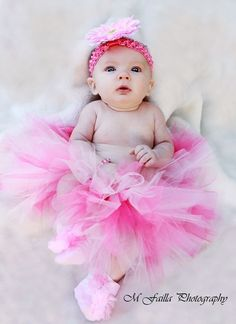 Oh pink tutu's and adorably over sized headbands. Love it.