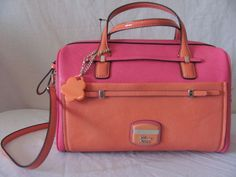 Guess Guess Purses, Small Boxes, Satchel Handbags, Purse Wallet, Orange Color, Bag Accessories, Purses And Bags, Wallets, Pink