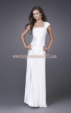 Cheap One Strap White Long Dress for Prom 2013 Popular