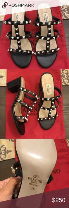 Rockstud sandals LOVE these soooo much!!!! Unfortunately my foot was too wide and I cannot return  size 5.5-6 . NOT A U T HENTIC but 1:1 quality . Come with dust bag . Valentino Garavani Shoes Sandals