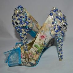 Alice in Wonderland Crystal Wedding Shoes by BecciBoosCustomShoes on Etsy https://www.etsy.com/listing/205866284/alice-in-wonderland-crystal-wedding