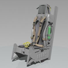 Ejection Seat Model available on Turbo Squid, the world's leading provider of digital models for visualization, films, television, and games. Fighter Aircraft, Fighter Jets, F 16 Cockpit, Flight Simulator Cockpit, Ejection Seat, Cnc Projects, Sims, Modeling, Pilot