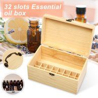 32 Slots Essential Oil Aromas Wooden Box Storage Case Organizer Aromatherapy With Handle New Essential Oil Storage Box, Essential Oil Box, Essential Oil Bottles, Container Organization, Storage Containers, Storage Organization, Wooden Storage Boxes, Wooden Boxes, Box Storage