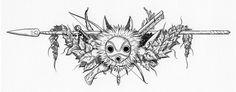 totoro bookmark black and white - Szukaj w Google