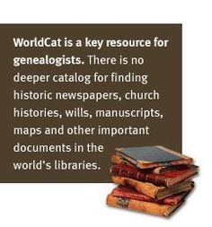 WorldCat for genealogy More