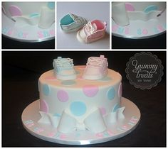 Gender Reveal Cake Collage!