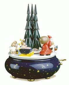 Wendt & Kühn Spieldose Weihnachtszug