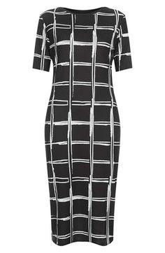 Topshop Grid Pattern Midi Dress | Nordstrom
