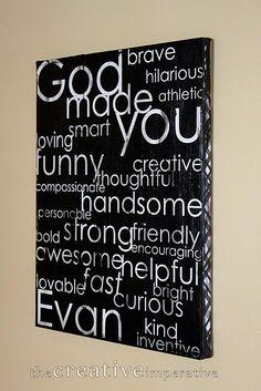 Canvas God Made You