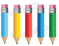Pencils Vector Clip Art Graphics This listing is for 5 Pencils with different colors Vector Graphics Clip Art - **Image Dimension** by PixelaitStu Object Photography, Teaching Colors, Object Drawing, Object Lessons, Find Objects, Color Vector, Everyday Objects, Vector Graphics, Art Images