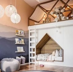 Did you ever get amazed by a friend's bedroom, or by one you see on TV back when you were little? And remember how badly you wanted to have such room? That, probably, is how your kid would react to see one of these cool kids' room decor ideas. Girls Bedroom, Bedroom Decor, Bedroom Lighting, Bedroom Red, Trendy Bedroom, Childs Bedroom, Bedroom Storage, Bedroom Colors, Light Bedroom