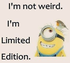 I'm Limited Edition! Feel Good Quotes, Love Me Quotes, Best Quotes, Funny Quotes, Snoopy Quotes, Minions Quotes, Minion Sayings, Weird Facts, Fun Facts
