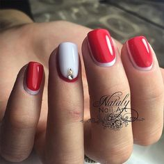 Chic Red Nail Designs to Say And#8220;Im HOTAnd#8221; ★ See more: http://glaminati.com/chic-red-nail-designs/