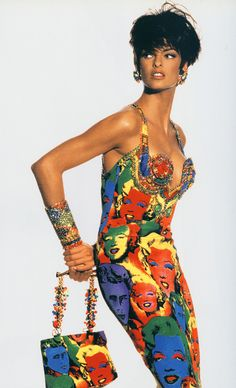 The Art and Craft of Gianni Versace ♦ Linda Evangelista 1991 ♦ scanned by Timeless Vintage Threads