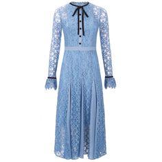 Temperley London Eclipse Iris Blue Lace Dress