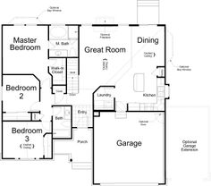 Our new house plan, but we added a 3rd car garage!! Should be done September!