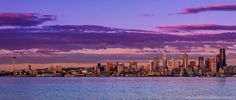 Landscape Photography - Seattle Skyline Sunset - Seattle, Washington, USA