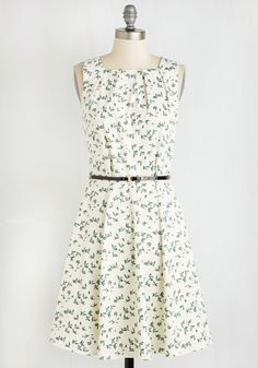 Topmost of All Dress. Your ascent to fashion royalty is a breeze in this belted white dress by Closet! #white #modcloth