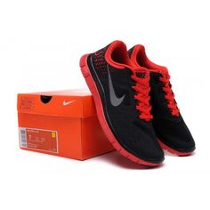 promo code bb854 fb7cf Homme Nike Free 4.0 V2 Chaussures Noir Rouge - €50.99   Chaussures Nike Air  Max