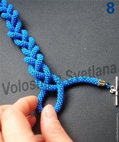 Как завязать косичкой, воздушной петлёй лариат (вязанный жгут) - Ярмарка Мастеров - ручная работа, handmade