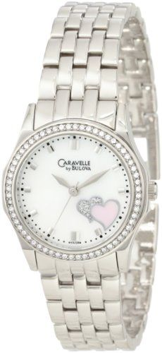 Caravelle by Bulova Womens 43L128 Heart motif Watch >>> You can find more details by visiting the image link.